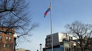 Pride Flag in Halifax for Olympics 2014