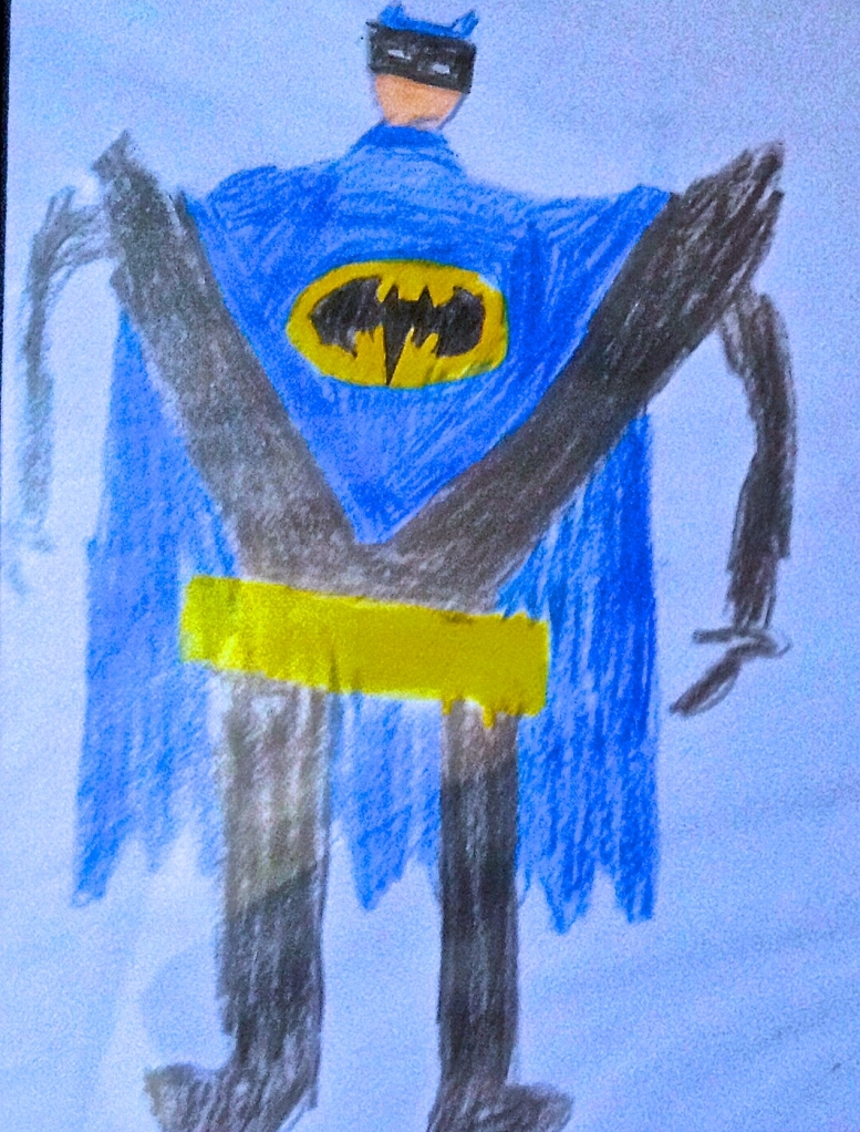 BATMAN - as imagined by my 9 year old nephew Kyle!