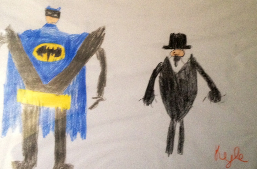 Drawn by my then 8 year old nephew Kyle :)